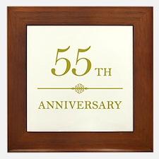 Stylish 55th Anniversary Framed Tile