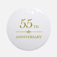 Stylish 55th Anniversary Ornament (Round)