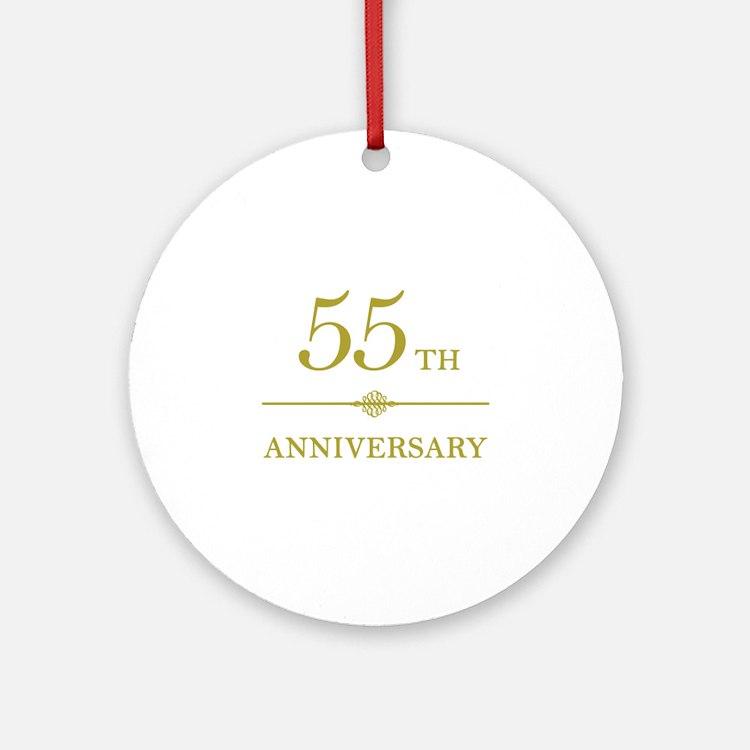 Stylish 55th Anniversary Ornament (Round)