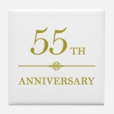 Stylish 55th Anniversary Tile Coaster