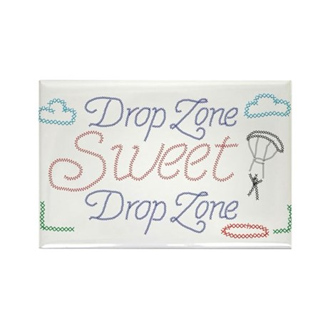 Sweet Drop Zone Rectangle Magnet
