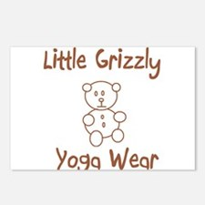 Little Grizzly Yoga Wear Postcards (Package of 8)