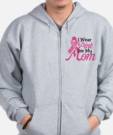 Pink For Mom Zip Hoodie