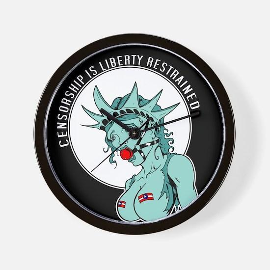 Censorship is Liberty Restrai Wall Clock