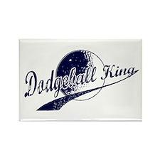 Dodgeball King Rectangle Magnet
