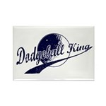 Dodgeball King Rectangle Magnet (10 pack)
