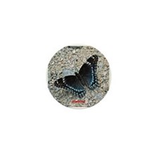 BLUE SWALLOWTAIL Mini Button