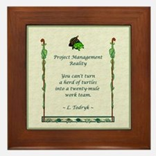 Project Managers Framed Tile