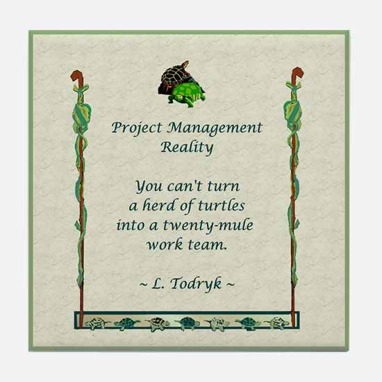 Project Managers Tile Coaster
