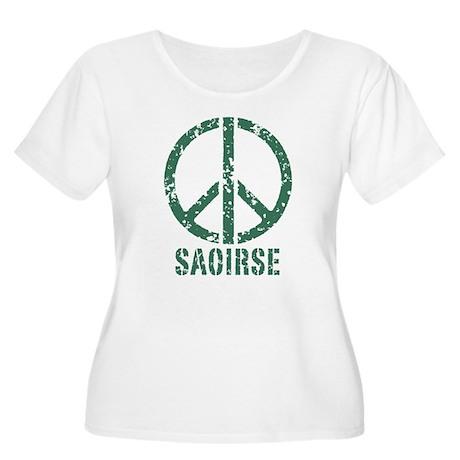 Saoirse Women's Plus Size Scoop Neck T-Shirt