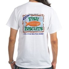 2-Sided 'Dharma Fish Biscuits' T-Shirt