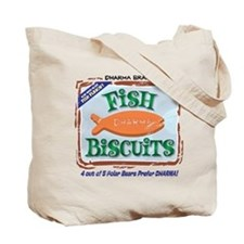 2-Sided 'Dharma Fish Biscuits' Tote Bag