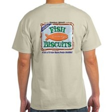 2-Sided 'Dharma Fish Biscuits' Light Tee