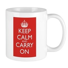 Keep Calm and Carry On Red+White Mug Front+Back