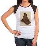 Muffed Tumbler Pigeon Women's Cap Sleeve T-Shirt