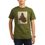 Muffed Tumbler Pigeon Organic Men's T-Shirt (dark)