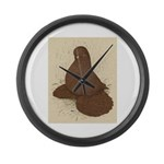 Muffed Tumbler Pigeon Large Wall Clock