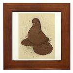 Muffed Tumbler Pigeon Framed Tile