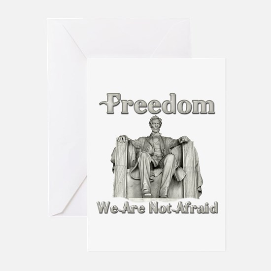 Lincoln Memorial/Not Afraid Greeting Cards (Packag