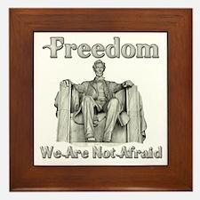 Lincoln Memorial/Not Afraid Framed Tile