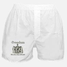Lincoln Memorial/Not Afraid Boxer Shorts