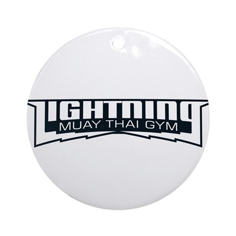 Lightning Muay Thai Gym Ornament (Round)