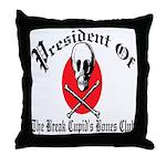 Anti-Valentine Club Throw Pillow