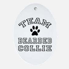 Team Bearded Collie Ornament (Oval)