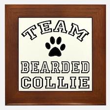 Team Bearded Collie Framed Tile