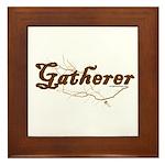 Gatherer, scavenger, vegetarian Framed Tile