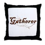 Gatherer, scavenger, vegetarian Throw Pillow
