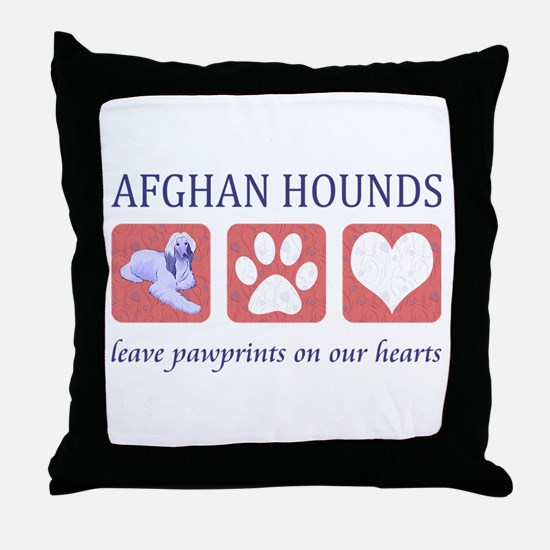 Afghan Hound Lover Throw Pillow