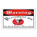 Anti-Valentine Club Rectangle Sticker