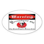 Anti-Valentine Club Oval Sticker