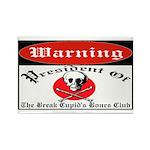 Anti-Valentine Club Rectangle Magnet (10 pack)