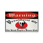 Anti-Valentine Club Rectangle Magnet