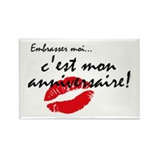 French Kiss Me Birthday Rectangle Magnet