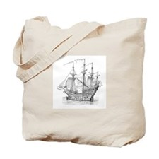 16th C Man of War Tote Bag