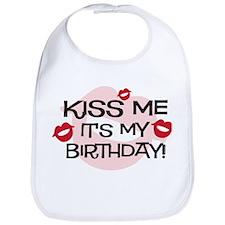 Smooches Kiss Me Birthday Bib