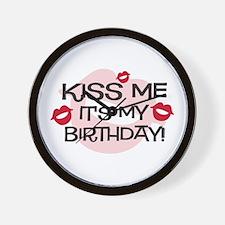 Smooches Kiss Me Birthday Wall Clock