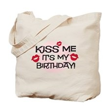 Smooches Kiss Me Birthday Tote Bag