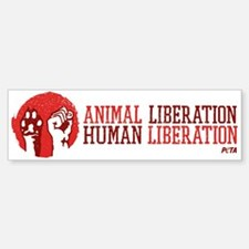 Animal/Human Liberation Sticker (Bumper)