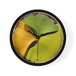 Ginkgo Leafs Wall Clock