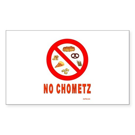 No Chometz Passover Sticker (Rectangle)