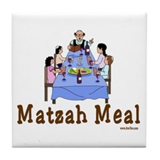 Matzah Meal Passover Tile Coaster