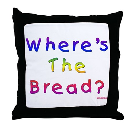 Missing Bread Passover Throw Pillow