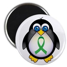 Penguin Green Ribbon Awareness Magnet