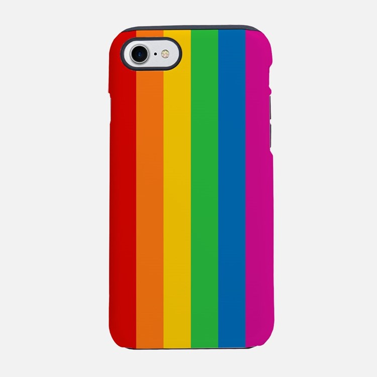 Rainbow Stripe iPhone 7 Tough Case