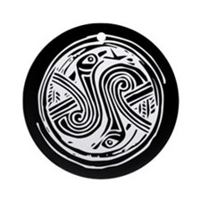 Celtic Birds Ornament (Round)