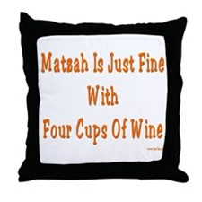 Matzah and Wine Passover Throw Pillow